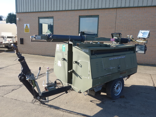 Hi-Lite Towed Lighting Tower 5.5 KVA | Military Land Rovers 90, 110,130, Range Rovers, Mercedes for Sale