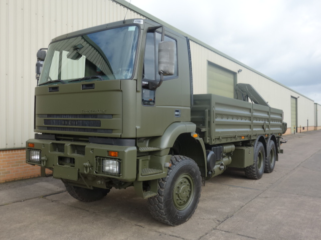 Iveco Eurotrakker 6x6 Cargo truck With Rear Mounted Crane |  EX.MOD direct sales