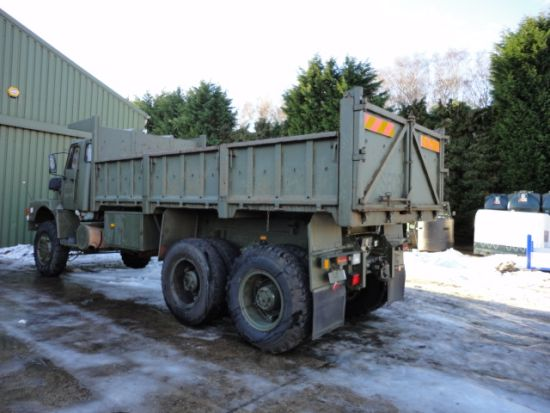 Volvo N10 6x6 tipper truck  for sale. The UK MOD Direct Sales