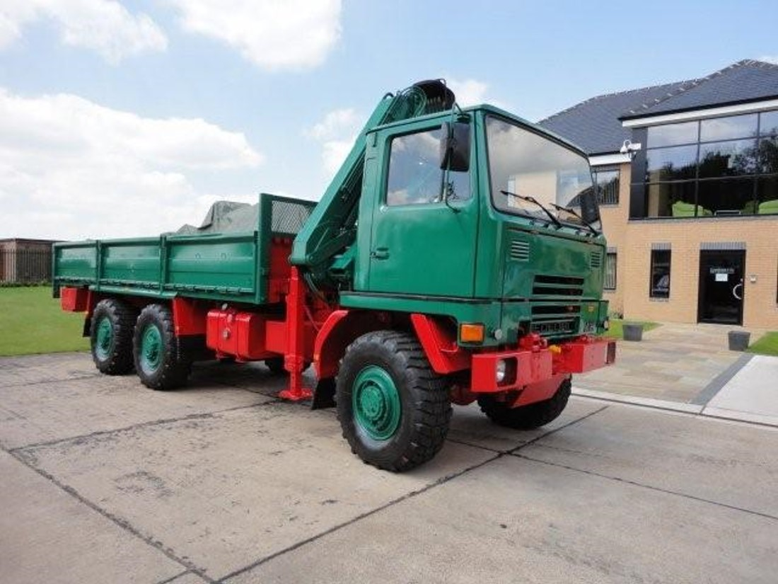 Bedford TM 6x6 Drop Side Cargo Truck with Atlas Crane for sale