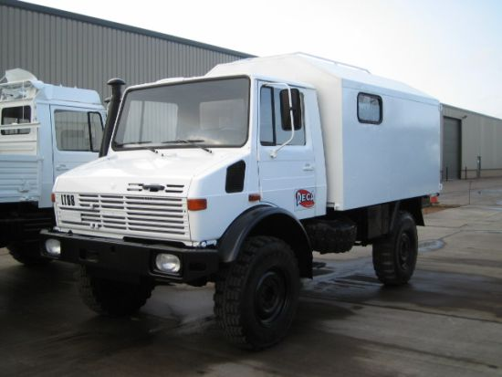 Mercedes Unimog U1300L 4x4 cargo van LHD  for sale. The UK MOD Direct Sales