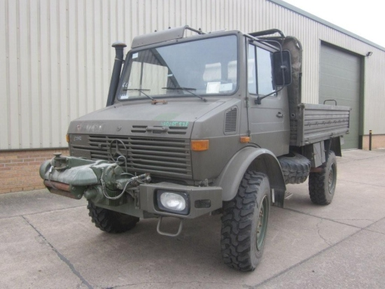 Mercedes unimog U1300L PTO winch truck 4x4 for sale | military vehicles
