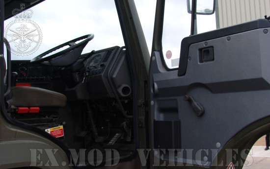 Volvo FL12 6x6  drop side cargo truck with Hiab crane & grab | used military vehicles, MOD surplus for sale