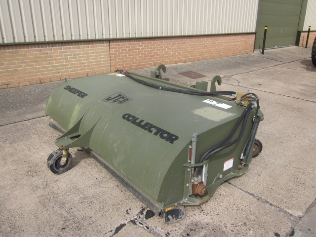 SOLD JCB sweeper collector with quick hitch attachment | used military vehicles, MOD surplus for sale