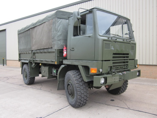 Bedford TM 4x4 Drop Side Cargo with canopy and pto winch  for sale . The UK MOD Direct Sales
