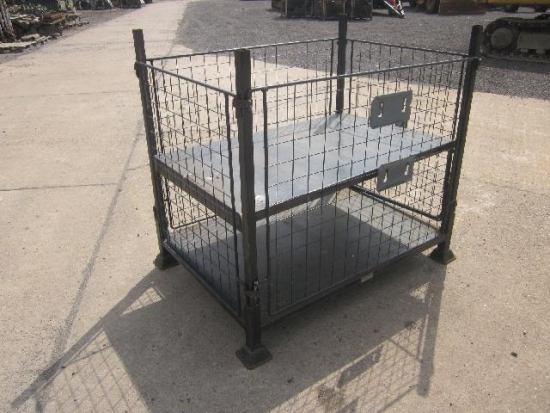 SOLD Stackable cage pallets with removeable sides | used military vehicles, MOD surplus for sale