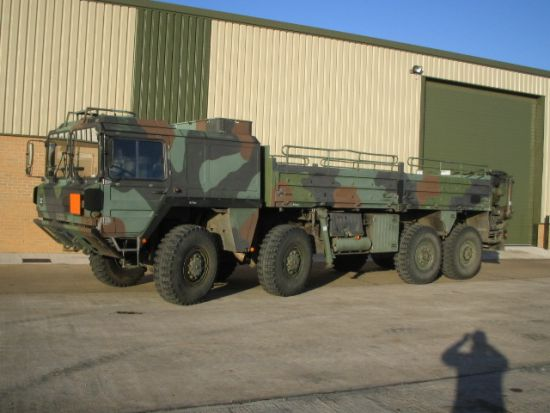 MAN 464 8x8 Drop Side Cargo Truck with  Atlas crane price