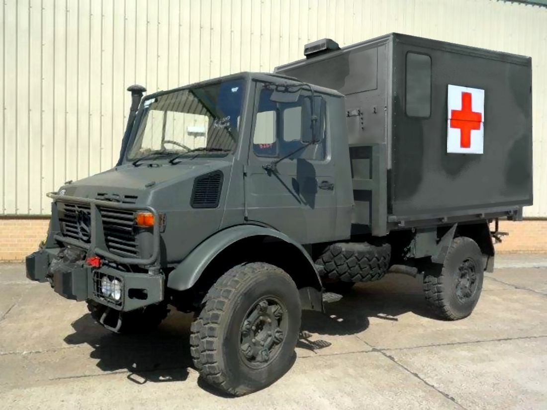 Mercedes Unimog U1300L turbo 4x4  Ambulance   RHD | Military Land Rovers 90, 110,130, Range Rovers, Mercedes for Sale