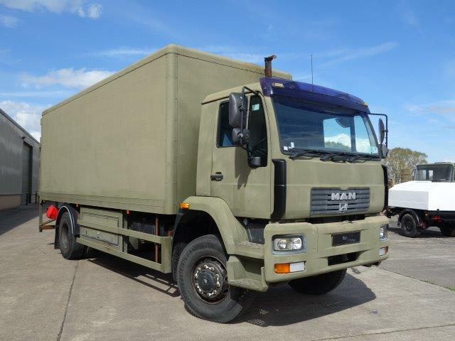 MAN 18.225 4X4 box truck | Military Land Rovers 90, 110,130, Range Rovers, Mercedes for Sale