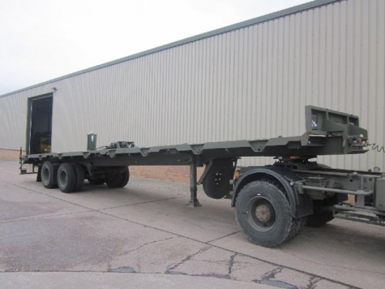 WAS SOLD Oldbury 2 axle sliding recovery trailer