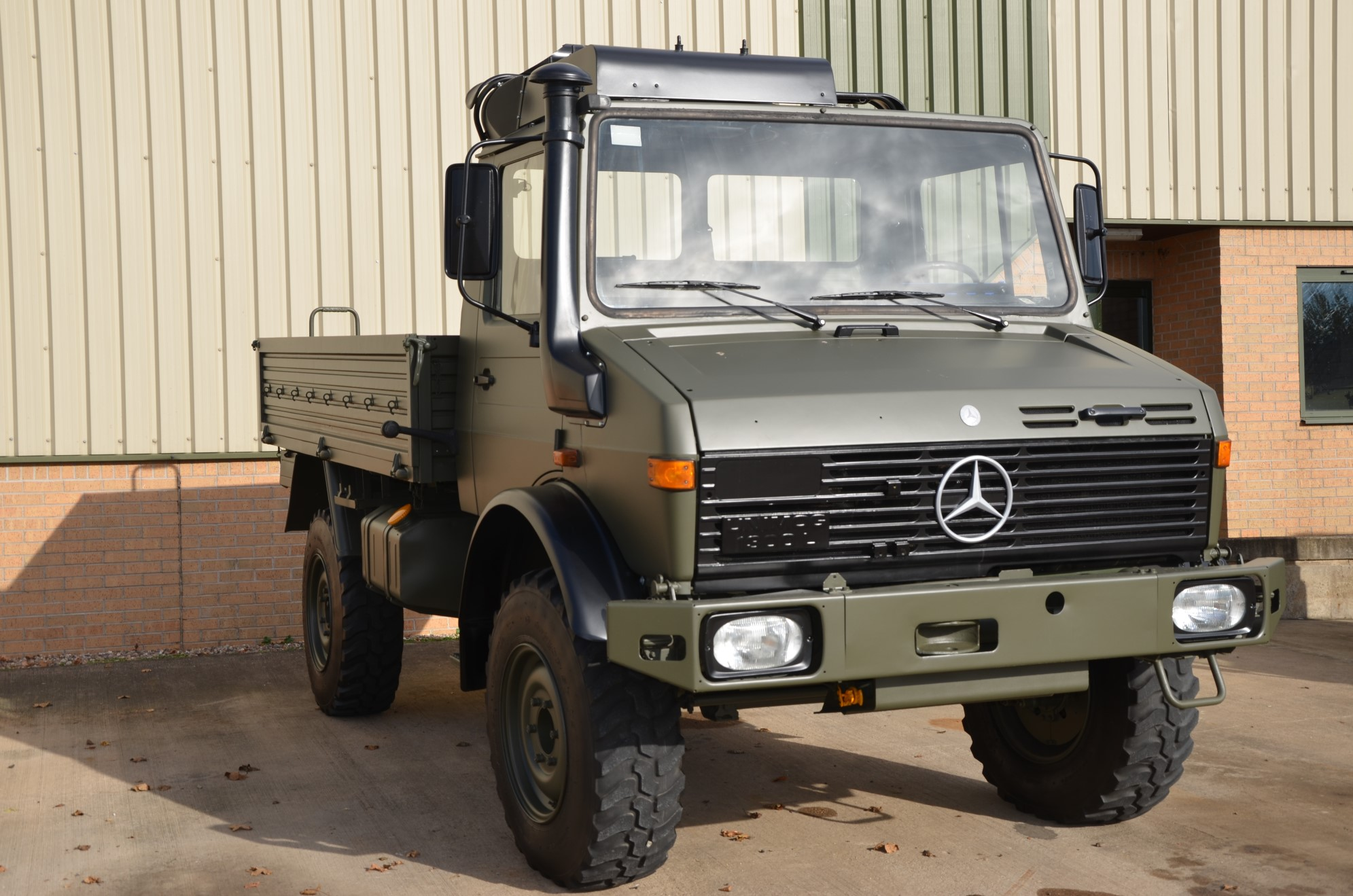 Mercedes Unimog  U1300L 4x4 Drop Side Cargo Truck for sale | military vehicles