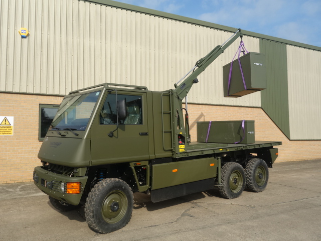 Mowag Duro II 6x6 LHD crane trucks | used military vehicles for sale
