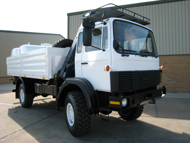 Iveco Magirus 110-16 4x4  truck with crane HIAB 965-90 | used military vehicles, MOD surplus for sale