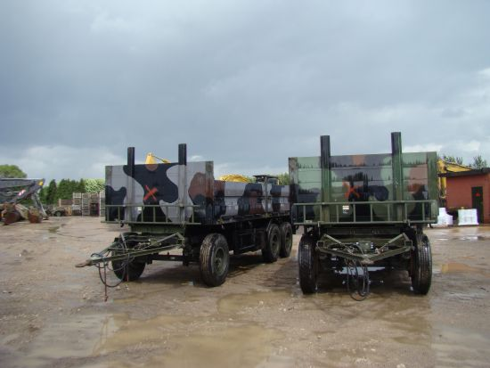 Schmitz tri axle draw bar trailer for sale
