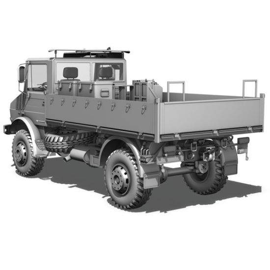 Mercedes Unimog  U1300L 4x4 Drop Side Cargo Truck