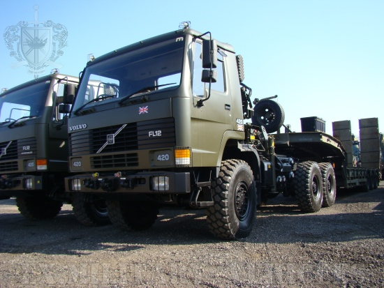 Volvo FL12 6x6 tractor unit with crane Hiab 115-1 | used military vehicles for sale