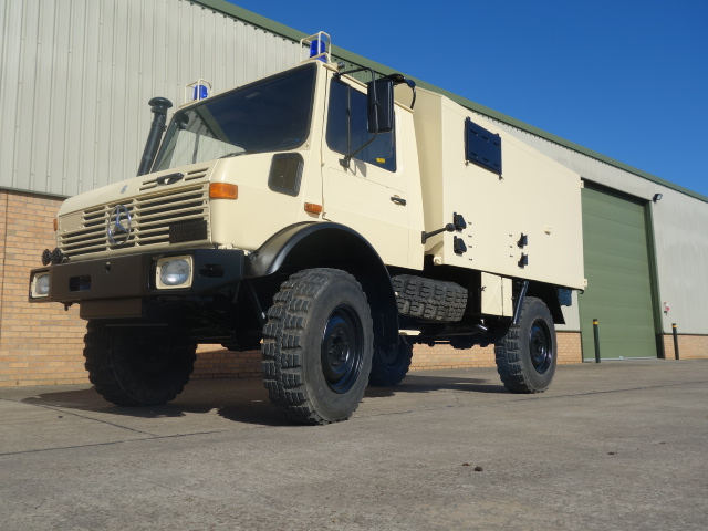 Mercedes Unimog U1300L 4x4 cargo van LHD for sale | military vehicles