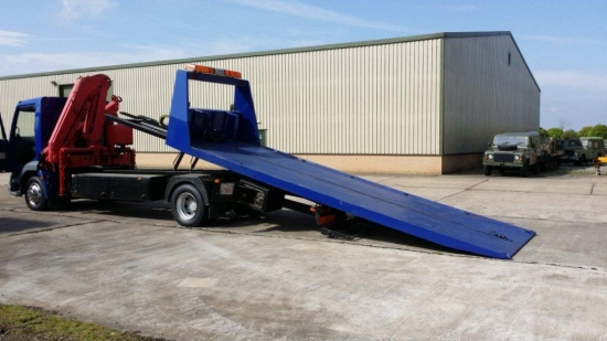 WAS SOLD DAF LF55-180 Slide`n`Tilt Recovery Truck with Crane