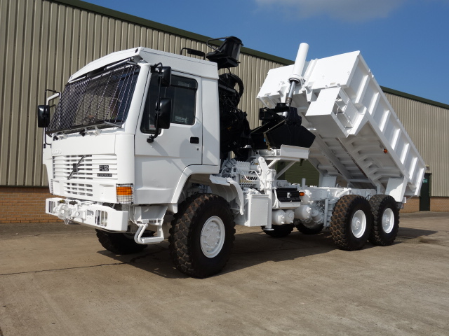 Volvo FL12 6x6 tipper with protected cab for sale | military vehicles