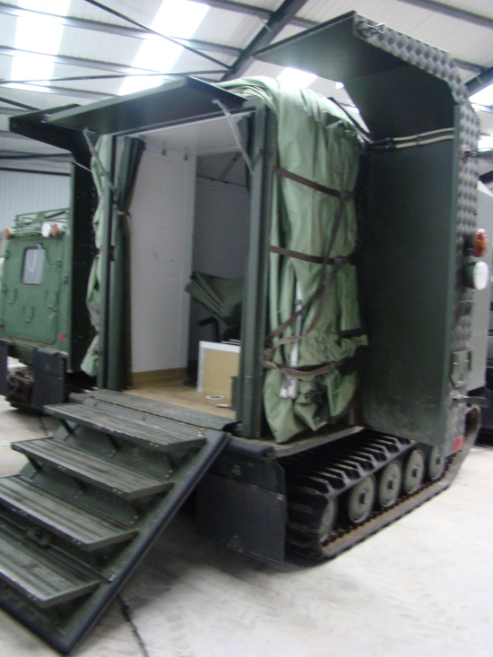 Hagglunds Bv206  Ambulance/ Mobile Theatre Unit  for sale . The UK MOD Direct Sales