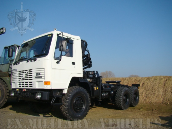 Volvo FL12 6x6 tractor unit with crane Hiab 115-1 | used military vehicles, MOD surplus for sale