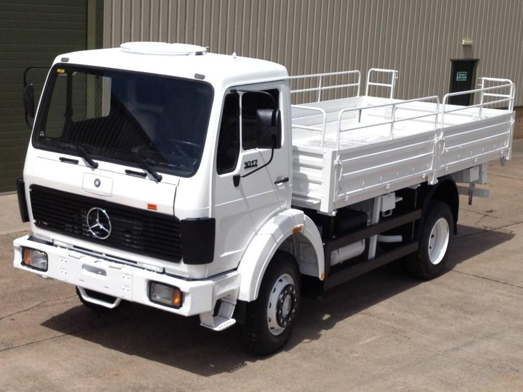 WAS SOLD Mercedes 1017 4x4 Drop Side Cargo truck