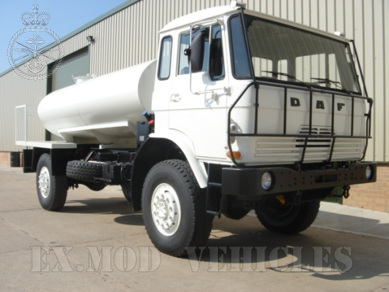 The DAF YA4440 4x4 tanker truck  4,000 Lt  for sale. The UK MOD Direct Sales