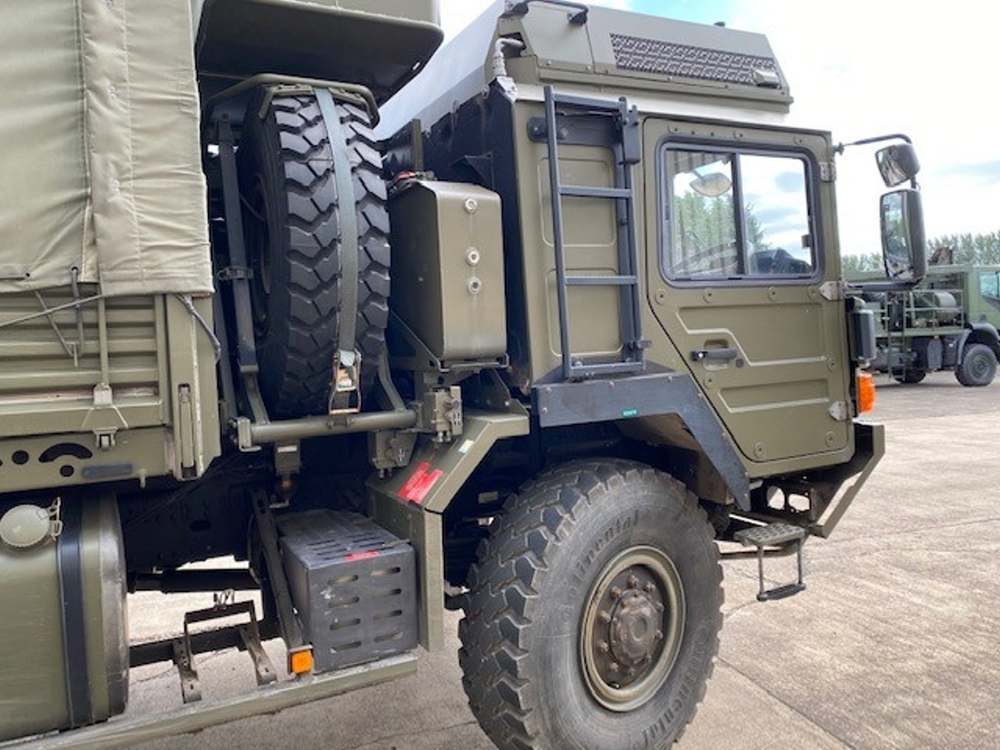 MAN HX60 18.330 4x4 Drop Side Cargo Trucks with Canopy   used military vehicles, MOD surplus for sale