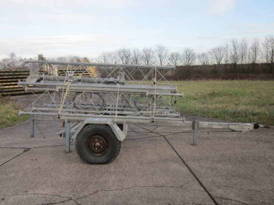 Aerial  masts mounted on fast tow trailer | used military vehicles, MOD surplus for sale