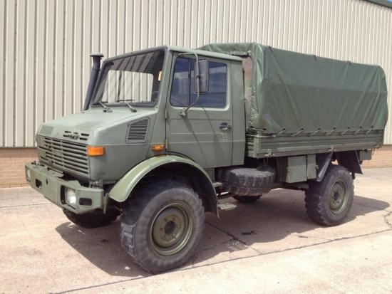 Mercedes unimog U1300L troop carrier / shoot vehicle 4x4 for sale | military vehicles