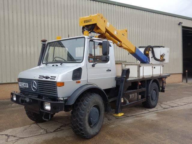 Mercedes Unimog U1550L Cherry Picker | Military Land Rovers 90, 110,130, Range Rovers, Mercedes for Sale