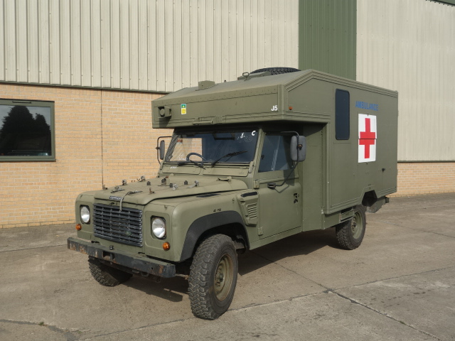 Land Rover 130 Defender Wolf RHD Ambulance  for sale. The UK MOD Direct Sales