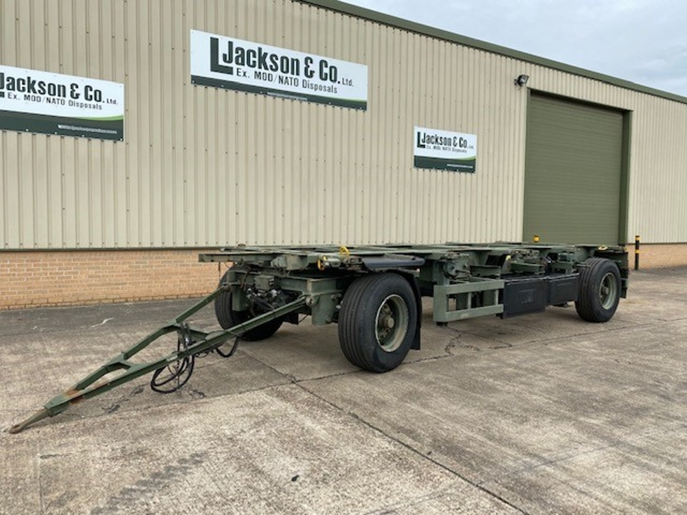 Schmitz 20FT Draw Bar Container Trailer for sale | military vehicles