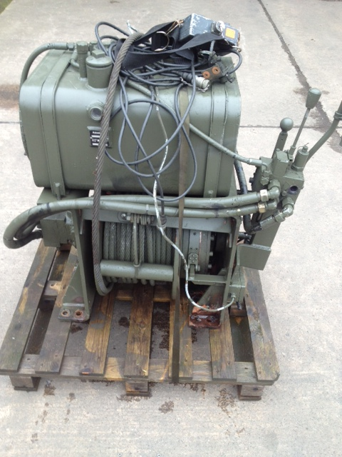 Rotzler 11.5 t hydraulic winch with oil tank and wonder lead | used military vehicles, MOD surplus for sale
