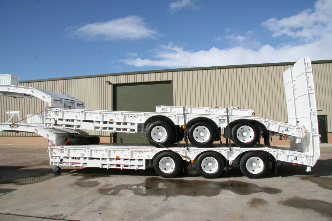 Trailmaster TS45 45,000kg semi low bed  EX.MOD  trailer for sale | military vehicles