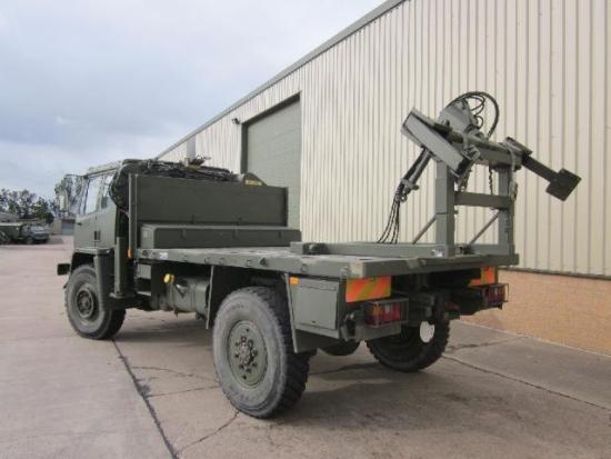 WAS SOLD Leyland Daf 4x4 crane truck with tyre handler