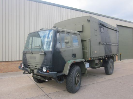 Leyland Daf 4x4 workshop truck  for sale. The UK MOD Direct Sales