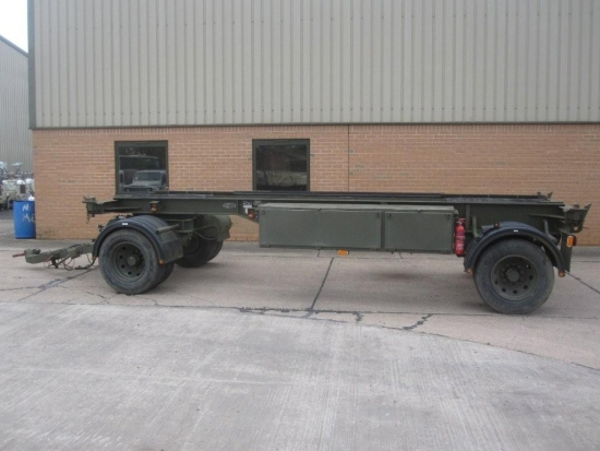 King 20ft container trailer 15 ton capacity | used military vehicles for sale