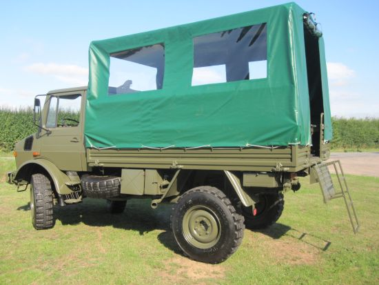 Mercedes Unimog U1300L 4x4 Shoot Vehicle  for sale. The UK MOD Direct Sales