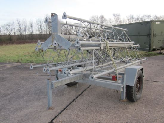 Aerial  masts mounted on fast tow trailer for sale