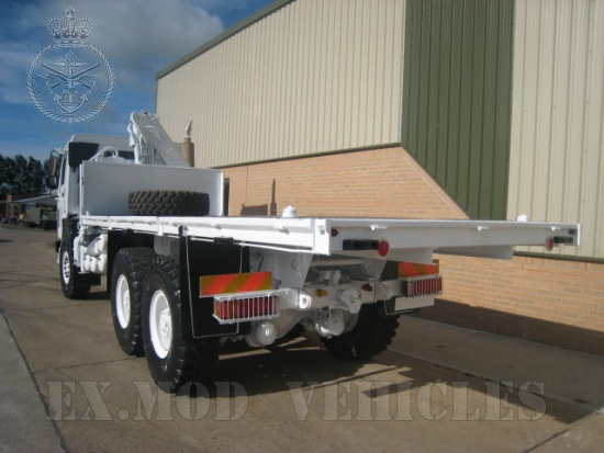 Volvo FL12 6x6 cargo platforms with Hiab 115-1 crane  for sale. The UK MOD Direct Sales