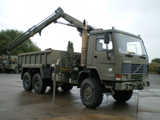 Volvo FL12 6x6 Tipper with clam sheel grab | used military vehicles, MOD surplus for sale