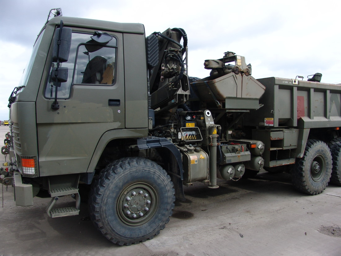 Volvo FL12 6x6 Tipper with clam sheel grab  for sale