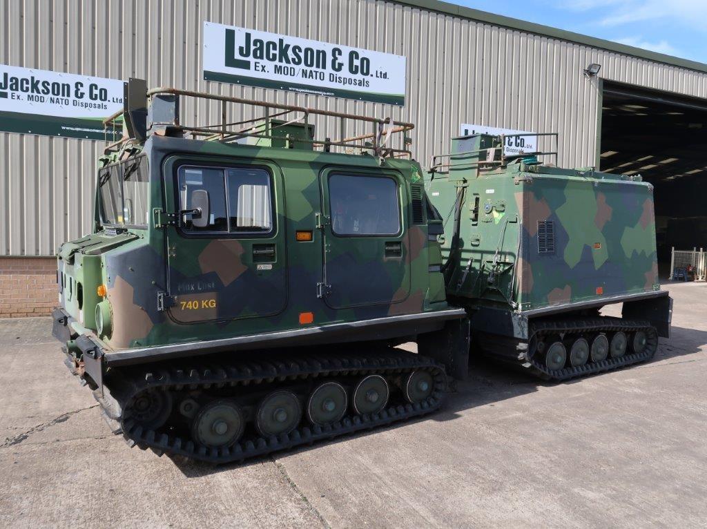 Hagglund BV 206 hardtop Radio Vehicle   used military vehicles, MOD surplus for sale