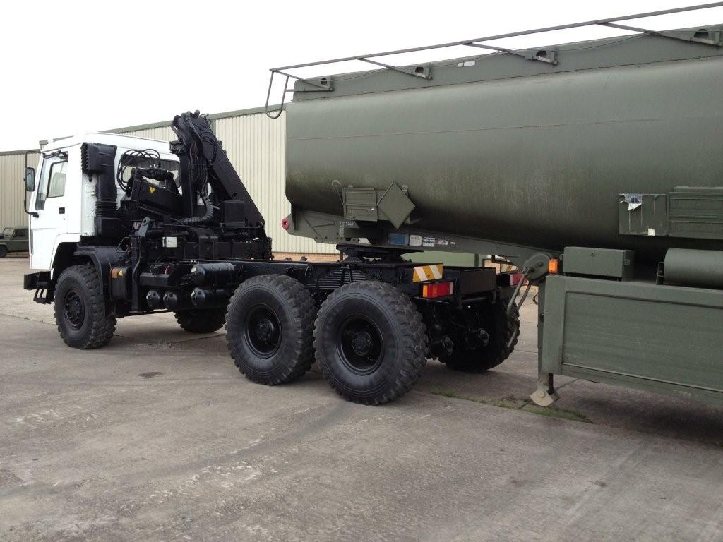 Volvo FL12 6x6 tractor unit with crane Hiab 115-1   used military vehicles, MOD surplus for sale