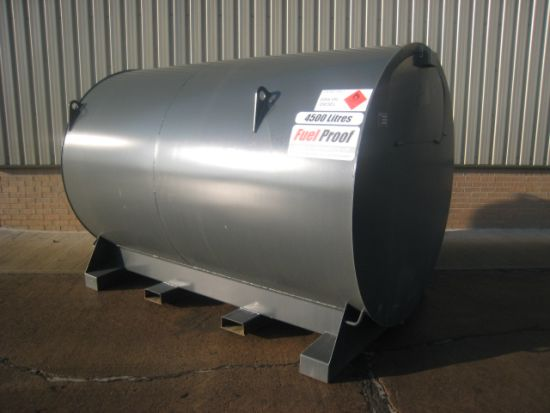 4,500 litre bunded tank with metered pump for sale