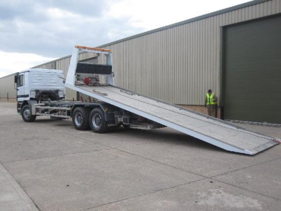 WAS SOLD Mercedes Actros 3343 6x4 slide bed & lift recovery truck LHD