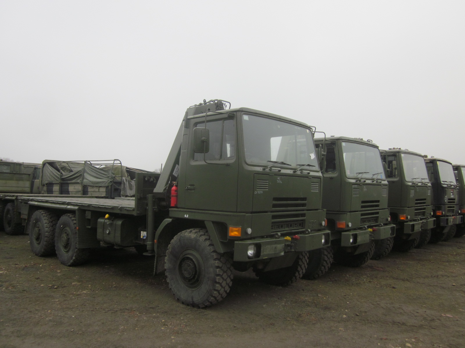 Bedford TM 6x6 Drop Side Cargo Truck with Atlas Crane  military for sale