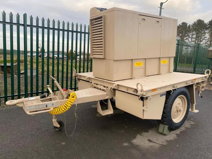 Penman GT3500 trailer with Harrington 20kva diesel generator
