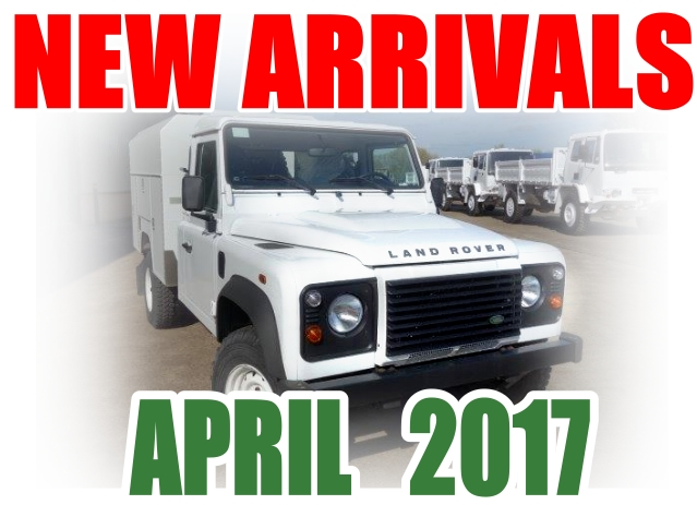 Just arrived 2x New Land Rover 130 LHD Maintenance vehicles and  New Land Rover 130 RHD chassis cab | MOD direct sales